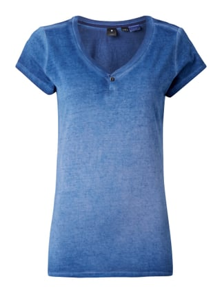 T-Shirt im Washed Out Look Blau / Türkis - 1