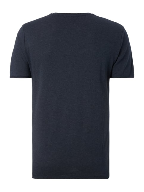G-Star Raw T-Shirt in Melangeoptik Marineblau meliert - 1