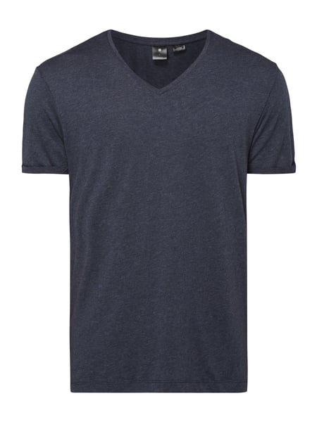 G-Star Raw Felor Regular - T-Shirt in Melangeoptik Marineblau meliert