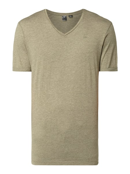 G-Star Raw Felor Regular - T-Shirt in Melangeoptik Olivgrün meliert