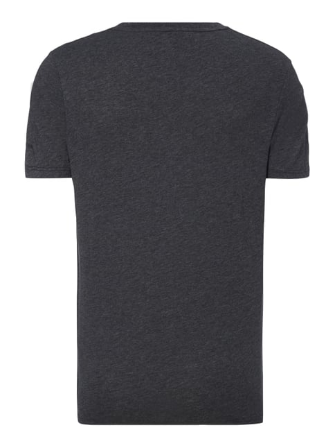 G-Star Raw T-Shirt mit Logo-Stickerei Dunkelgrau meliert - 1