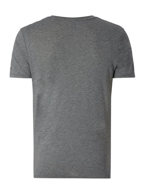 G-Star Raw T-Shirt mit Logo-Stickerei Olivgrün meliert - 1