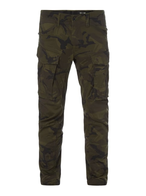 Tapered Fit Cargohose mit Camouflage-Muster Grau / Schwarz - 1