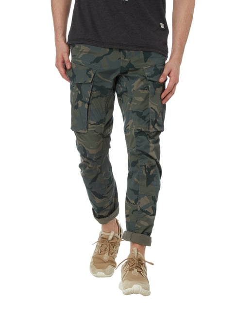 G-Star Raw Tapered Fit Cargohose mit Camouflage-Muster Olivgrün - 1