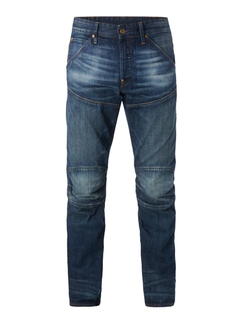 Double Stone Washed 3D Tapered Fit Jeans Blau / Türkis - 1