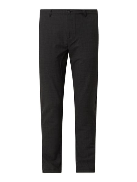 GABBA Regular Fit Chino mit Stretch-Anteil Modell 'Pisa Cross' Grau - 1