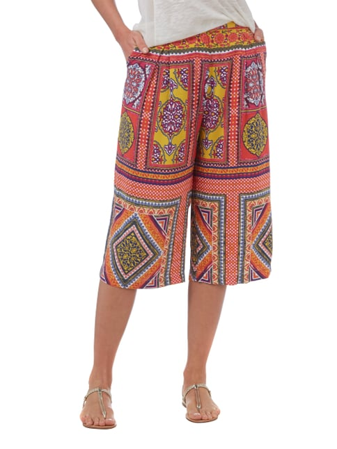 Ganesh Culotte mit Allover-Muster Rot - 1