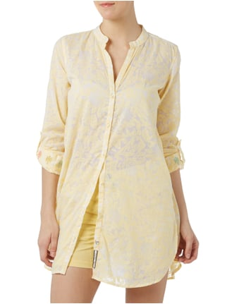 Ganesh Longbluse mit floralem Muster Gelb - 1