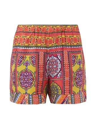 Shorts mit Allover-Muster Rot - 1
