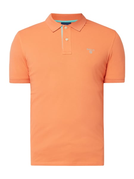 Gant Poloshirt mit Logo-Stickerei Orange - 1