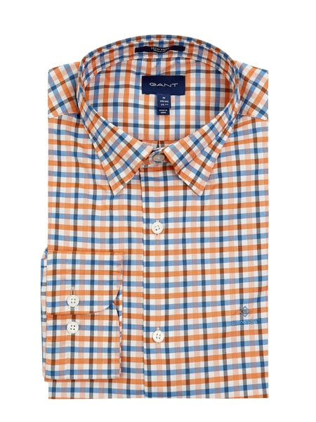Gant Regular Fit Freizeithemd aus Oxford Modell 'Jaspe' Orange - 1