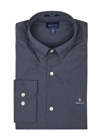 Gant Regular Fit Freizeithemd mit Stretch-Anteil Blau - 1