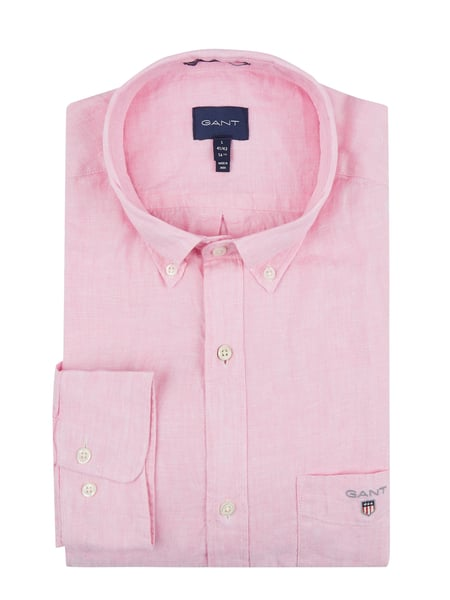 Gant Regular Fit Leinenhemd Rosa - 1