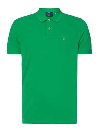 Regular Fit Poloshirt aus Piqué Grün - 1