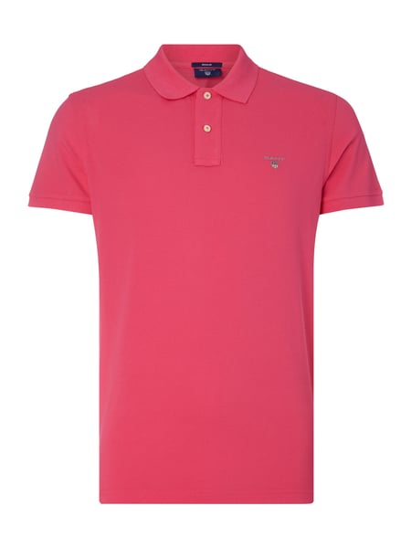 Regular Fit Poloshirt aus Piqué Rosé - 1