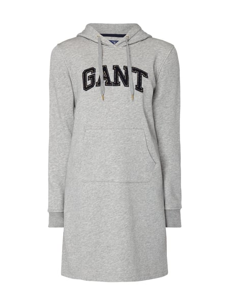 Gant Sweatkleid mit Logo-Applikation Mittelgrau