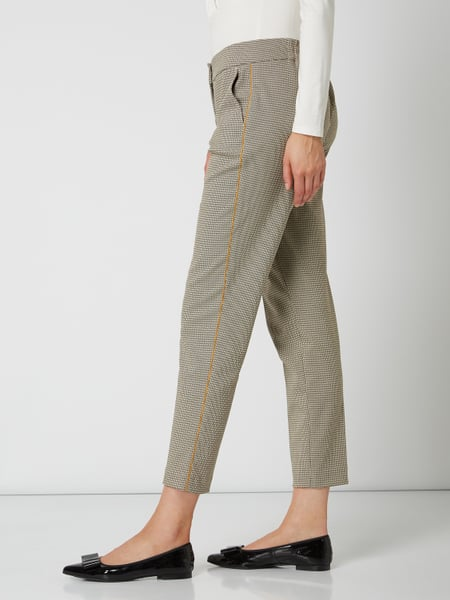 Gerry Weber Edition – Stoffhose in gerader Passform mit Stretch Anteil – Beige