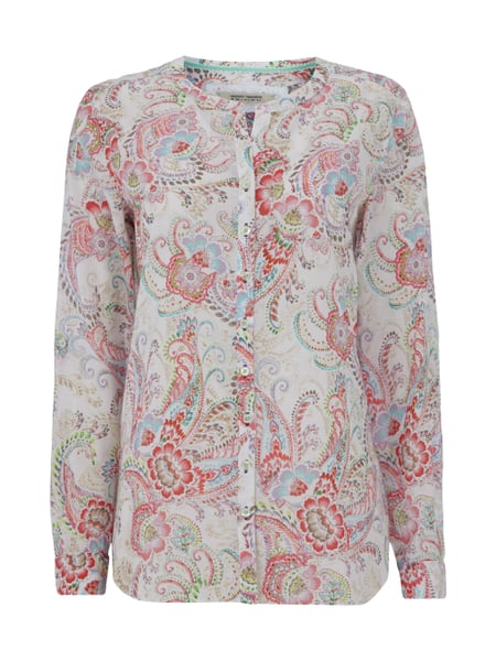 online store 9bf9c 42e98 GERRY-WEBER-EDITION Vokuhila-Bluse mit Paisleymuster in Weiß ...