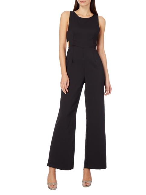 Glamorous Jumpsuit mit Cut Outs in Grau / Schwarz - 1