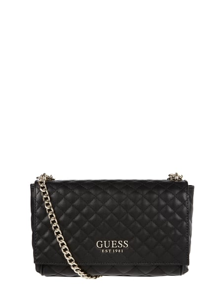 Guess – Crossbody Bag in Leder Optik – Schwarz