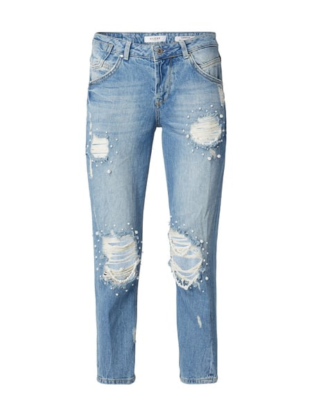 guess destroyed look relaxed fit jeans mit zierperlen in blau t rkis online kaufen 9739902 p. Black Bedroom Furniture Sets. Home Design Ideas