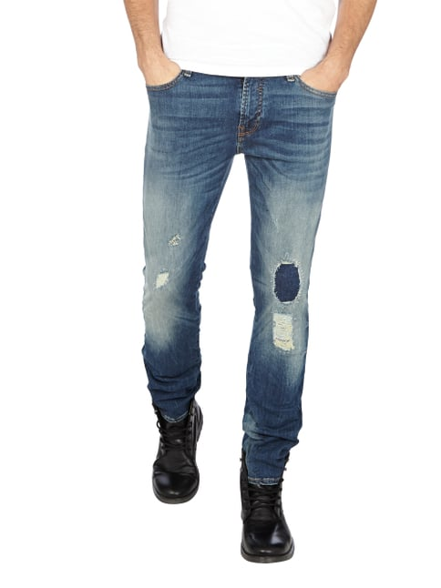 Guess Destroyed Look Skinny Fit 5-Pocket-Jeans Jeans - 1