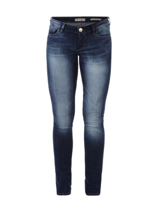 Double Stone Washed Skinny Fit Jeans Blau / Türkis - 1