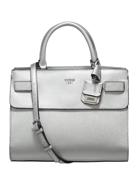 new product 0698d 6817e Guess – Handtasche in Metallicoptik – Silber