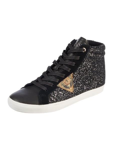 Guess Holly - High Top Sneaker mit Glitter-Effekt Schwarz