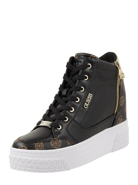 Guess High Top Sneaker mit Plateausohle Modell 'Rigg' Schwarz - 1