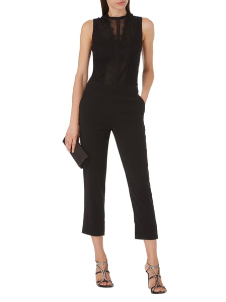 guess jumpsuit aus floraler spitze in grau schwarz online kaufen 9715377 p c online shop. Black Bedroom Furniture Sets. Home Design Ideas