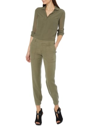 Guess Jumpsuit mit Umlegekragen in Grün - 1