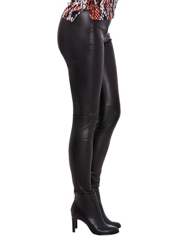 Guess Leggings in Lederoptik Schwarz - 1