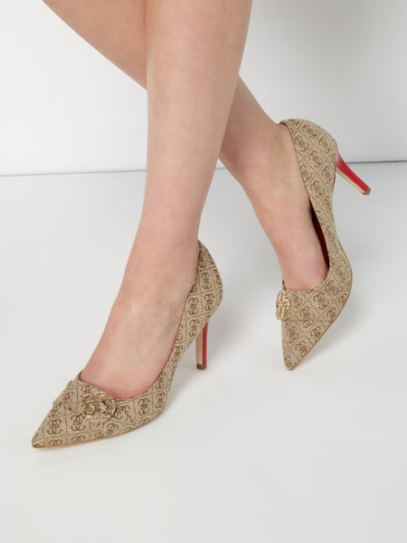 Guess Estell2/decollet - Pumps mit Logo-Muster Taupe