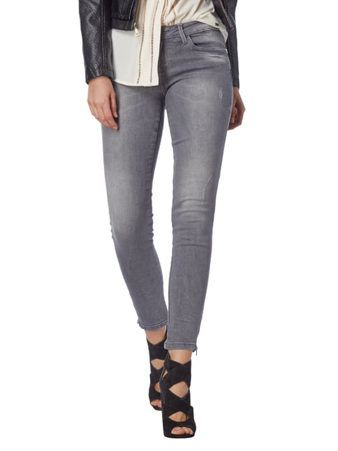 Guess Skinny Fit Jeans im Used Look Graphit - 1