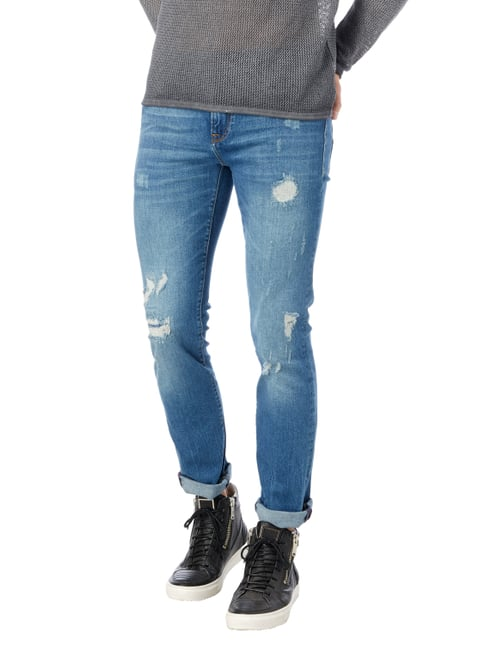 Guess Slim Fit 5-Pocket-Jeans im Destroyed Look Jeans - 1
