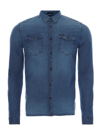 Slim Fit Jeanshemd aus Light Denim Blau / Türkis - 1
