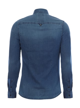Guess Slim Fit Jeanshemd aus Light Denim Jeans - 1