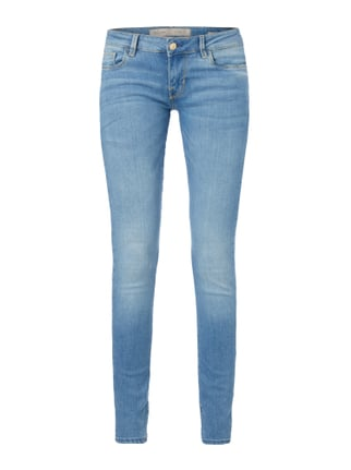 Stone Washed Low Rise Skinny Fit Jeans Blau / Türkis - 1