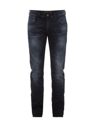 Stone Washed Slim Straight Fit Jeans Blau / Türkis - 1