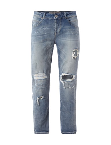 Tapered Relaxed Fit Jeans im Destroyed Look Blau / Türkis - 1