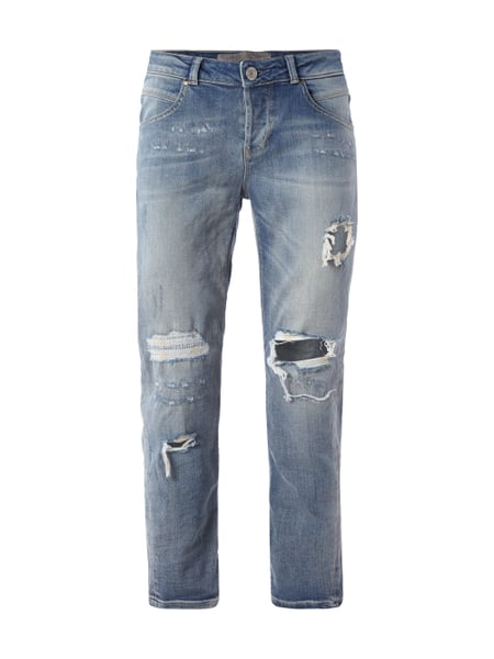 TAPERED RELAX VA - Tapered Relaxed Fit Jeans im Destroyed Look Blau / Türkis - 1