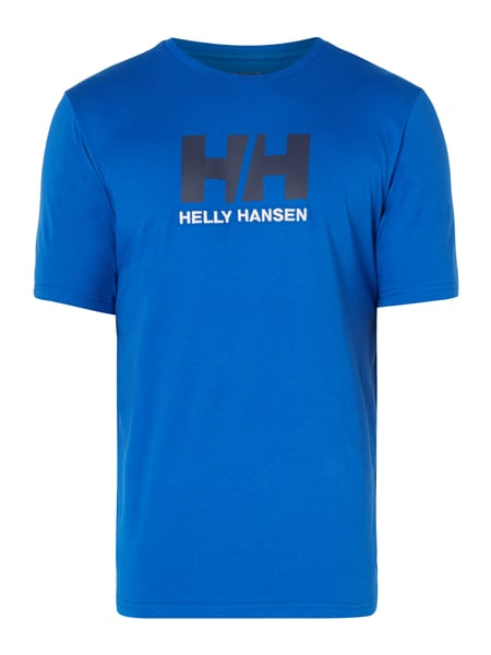 Helly Hansen T-Shirt mit Logo-Applikationen Blau