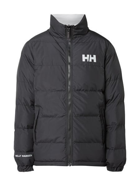 helly hansen wende jacke mit wattierung in grau schwarz. Black Bedroom Furniture Sets. Home Design Ideas