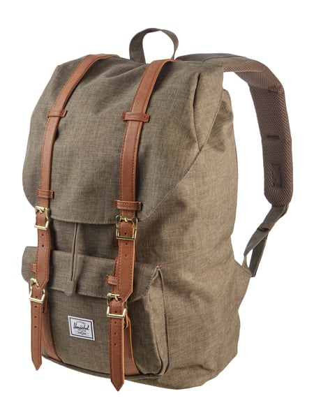 herschel rucksack mit gepolstertem laptopfach in gr n. Black Bedroom Furniture Sets. Home Design Ideas