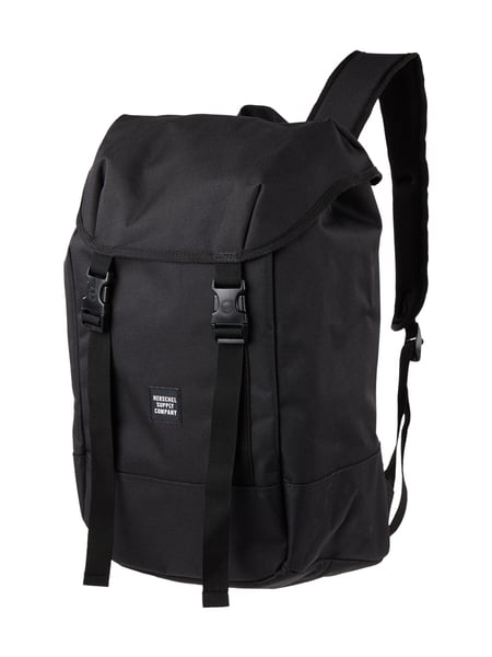 herschel rucksack mit zugverschluss in grau schwarz online kaufen 9587254 p c online shop. Black Bedroom Furniture Sets. Home Design Ideas