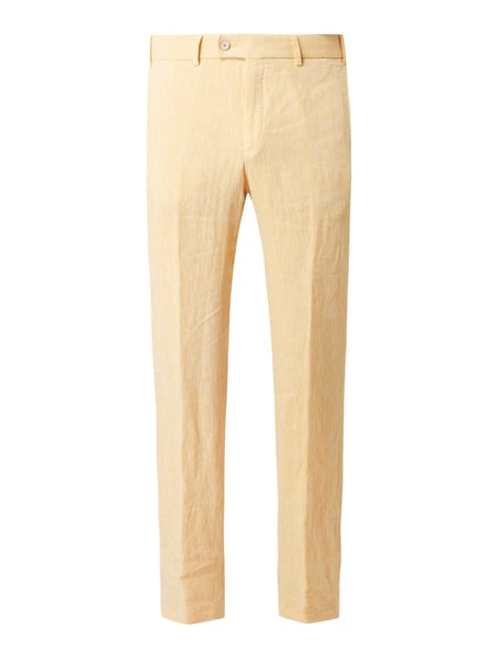Hiltl Regular Fit Chino aus Leinen Modell 'Pilo' Gelb - 1