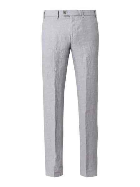Hiltl Regular Fit Chino aus Leinen Modell 'Pilo' Grau - 1