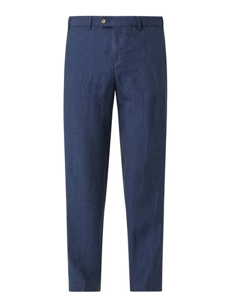 Hiltl Regular Fit Chino aus Leinen Modell 'Pilo' Blau - 1