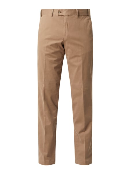 Hiltl Regular Fit Chino mit Stretch-Anteil Modell 'Parma' Braun - 1